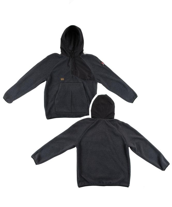Fleece Half-Zip Hoodie Grey