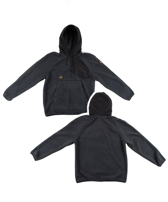Fleece Half-Zip Hoodie Grey
